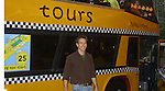 Adam Mayfield by the bus with fans of his Bus Trip Around Manhattan held on September 12, 2009 from the upper east side to Battery Park, Ground Zero and all around Manhattan. (Photo by Sue Coflin/Max Photos)