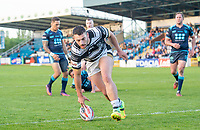 Picture by Allan McKenzie/SWpix.com - 10/05/2018 - Rugby League - Ladbrokes Challenge Cup - Featherstone Rovers v Hull FC - LD Nutrition Stadium, Featherstone, England - Hull FC's Jake Connor touches down for his second try against Featherstone.