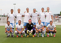The Chicago Red Stars line up before the game at the Maryland SoccerPlex in Boyds, Md.   Chicago defeated Washington, 2-0.