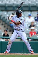 Reading Fightin Phils third baseman Maikel Franco #27 during a game against the Trenton Thunder on July 8, 2013 at Arm & Hammer Park in Trenton, New Jersey.  Trenton defeated Reading 10-6.  (Mike Janes/Four Seam Images)