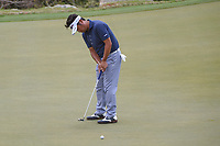 Yuta Ikeda (JAP) watches his putt on 2 during day 2 of the World Golf Championships, Dell Match Play, Austin Country Club, Austin, Texas. 3/22/2018.<br /> Picture: Golffile | Ken Murray<br /> <br /> <br /> All photo usage must carry mandatory copyright credit (&copy; Golffile | Ken Murray)