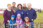 FOOD: On the break from the Ballyheigue Coursing on Sunday before the finals Front l-r: Brendan and Rachel O'Leary (Tarbert) and Seamus Lucey (Ballyheigue) Back l-r: Nuala Egan, (Tarbert), Aidan O'Connor (ballyduff), Mairead O'Leary (Tarbert), Ger Kelly(Ballyduff) and Niall Lucey (Ballyheigue)..... ..........