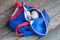South Bend Cubs ball bag on May 12, 2016 at Cooley Law School Stadium in Lansing, Michigan. (Andrew Woolley/Four Seam Images)