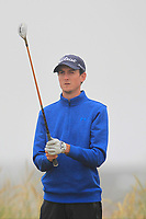 Tiarnan McLarnon (Massereene) on the 1st tee during Round 1 - Matchplay of the North of Ireland Championship at Royal Portrush Golf Club, Portrush, Co. Antrim on Wednesday 11th July 2018.<br /> Picture:  Thos Caffrey / Golffile