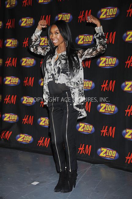 WWW.ACEPIXS.COM . . . . . ....December 12 2008, New York City....Singer Brandy in the press room at Z100's Jingle Ball at Madison Square Garden on December 12, 2008 in New York City.....Please byline: KRISTIN CALLAHAN - ACEPIXS.COM.. . . . . . ..Ace Pictures, Inc:  ..tel: (212) 243 8787 or (646) 769 0430..e-mail: info@acepixs.com..web: http://www.acepixs.com