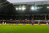 Low Cost Vans LED advert during the Premier League match between Swansea City and Crystal Palace at The Liberty Stadium, Swansea, Wales, UK. Saturday 23 December 2017