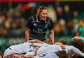 1st February 2019, Energia Park, Dublin, Ireland; Womens Six Nations rugby, Ireland versus England; Referee Aimee Barrett gives the scrum calls