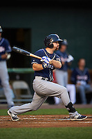 New Hampshire Fisher Cats outfielder Matt Newman (7) at bat during a game against the Harrisburg Senators on July 21, 2015 at Metro Bank Park in Harrisburg, Pennsylvania.  New Hampshire defeated Harrisburg 7-1.  (Mike Janes/Four Seam Images)