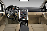 Straight dashboard view of a 2009 Mercedes B Class Sport Mini MPV.