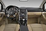 Straight dashboard view of a 2009 Mercedes B Class Sport Mini MPV.