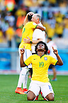 Willian (BRA),<br /> JUNE 28, 2014 - Football / Soccer :<br /> Willian of Brazil celebrates after winning the penalty shoot out during the FIFA World Cup Brazil 2014 Round of 16 match between Brazil 1(3-2)1 Chile at Estadio Mineirao in Belo Horizonte, Brazil. (Photo by D.Nakashima/AFLO)