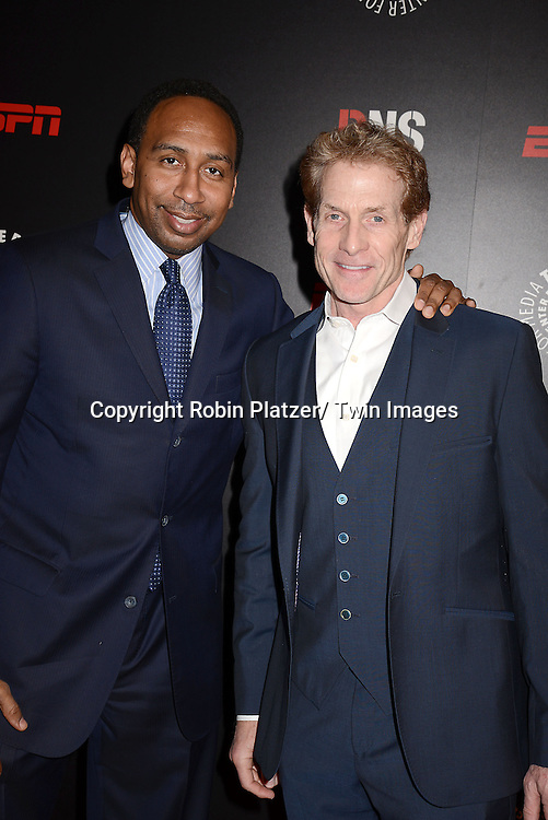 Stephen A Smith and Skip Bayless of ESPN attend The Paley Center for Media's Annual Benefit Dinner honoring ESPN' s 35th Anniversary on May 28, 2014 at 583 Park Avenue in New York City, NY, USA.