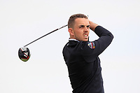 Alan Lowry (Esker Hills) on the 2nd tee during Round 1 of The East of Ireland Amateur Open Championship in Co. Louth Golf Club, Baltray on Saturday 1st June 2019.<br /> <br /> Picture:  Thos Caffrey / www.golffile.ie<br /> <br /> All photos usage must carry mandatory copyright credit (© Golffile | Thos Caffrey)
