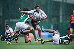 Fiji vs Kenya during the Day 1 of the IRB Women's Sevens Qualifier 2014 at the Skek Kip Mei Stadium on September 12, 2014 in Hong Kong, China. Photo by Aitor Alcalde / Power Sport Images