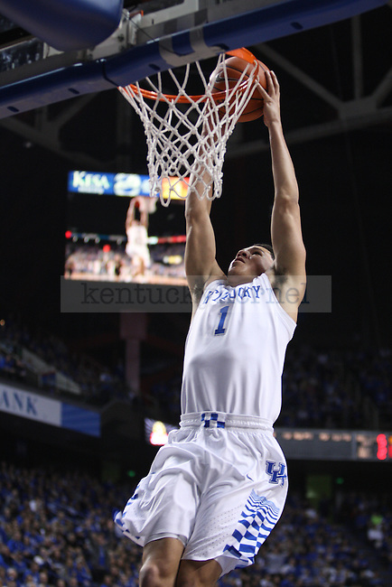 UK guard Devin Booker dunks the ball during UK vs. Montana State in Rupp Arena in Lexington, Ky., on Sunday, November 23,  2014. Photo by Emily Wuetcher | Staff