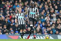 Mohamed Diame of Newcastle United during the Premier League match between Chelsea and Newcastle United at Stamford Bridge, London, England on 2 December 2017. Photo by David Horn.