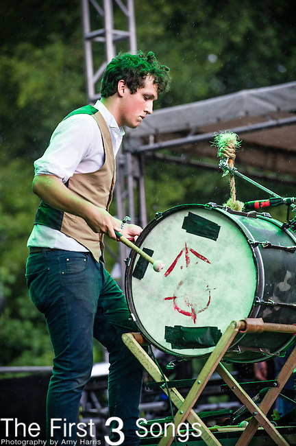 Jay Benfante of The Last Bison performs during Day 3 of the 2013 Firefly Music Festival in Dover, Delaware.