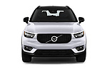 Car photography straight front view of a 2019 Volvo XC40 R-Design 5 Door SUV