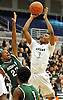 Darius Celestin #3 of Elmont, right, tries to get a shot over Dwight Jones #22 of Valley Stream North during the Nassau County varsity boys basketball Class A semifinals at Hofstra University on Wednesday, Feb. 24, 2016. Elmont won by a score of 77-54.