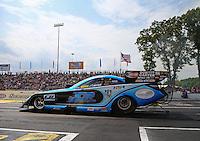 Jun 11, 2016; Englishtown, NJ, USA; NHRA funny car driver Jeff Diehl during qualifying for the Summernationals at Old Bridge Township Raceway Park. Mandatory Credit: Mark J. Rebilas-USA TODAY Sports