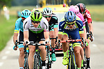 The breakaway group featuring Edvald Boasson Hagen (NOR) Team Dimension Data, Odd Christian Eiking (NOR) Wanty-Groupe Gobert, Simon Clarke (AUS) EF-Drapac-Cannondale, Dario Cataldo (ITA) Astana Pro Team, Jens Keukeleire (BEL) Lotto-Soudal, Lukas Pöstlberger (AUT) Bora-Hansgrohe in action during Stage 4 of the 2018 Criterium du Dauphine 2018 running 181km from Chazey sur Ain to Lans en Vercors, France. 7th June 2018.<br /> Picture: ASO/Alex Broadway | Cyclefile<br /> <br /> <br /> All photos usage must carry mandatory copyright credit (© Cyclefile | ASO/Alex Broadway)