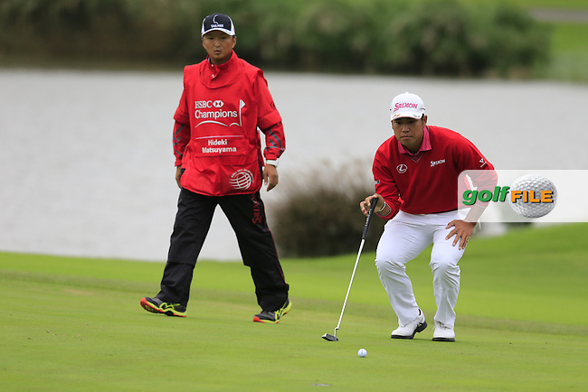 Hideki Matsuyama (JPN) on the 9th during round 3 of the WGC-HSBC Champions, Sheshan International GC, Shanghai, China PR.  29/10/2016<br /> Picture: Golffile | Fran Caffrey<br /> <br /> <br /> All photo usage must carry mandatory copyright credit (&copy; Golffile | Fran Caffrey)