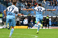 Danilo Cataldi of Lazio celebrates after scoring a goal during the Serie A 2018/2019 football match between SS Lazio and Spal at stadio Olimpico, Roma, November 04, 2018 <br />  Foto Andrea Staccioli / Insidefoto