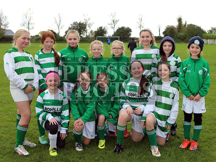 Termonfeckin FC U12 ahead of their match against Carrick at Termonfeckin FC <br /> <br /> <br /> Photo - Jenny Matthews