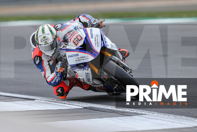 Peter Hickman (60) of the BSB Smiths Racing (BMW) race team during Free Practice 2 at Round 9 of the 2018 British Superbike Championship at Silverstone Circuit, Towcester, England on Friday 7 September 2018. Photo by David Horn.