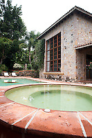 Main house and the swimming pool. Home in Jiutepec, Morelos, Mexico. Wednesday, August 31, 2011