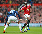 Paul Pogba of Manchester United during the premier league match at the Old Trafford Stadium, Manchester. Picture date 15th April 2018. Picture credit should read: Simon Bellis/Sportimage