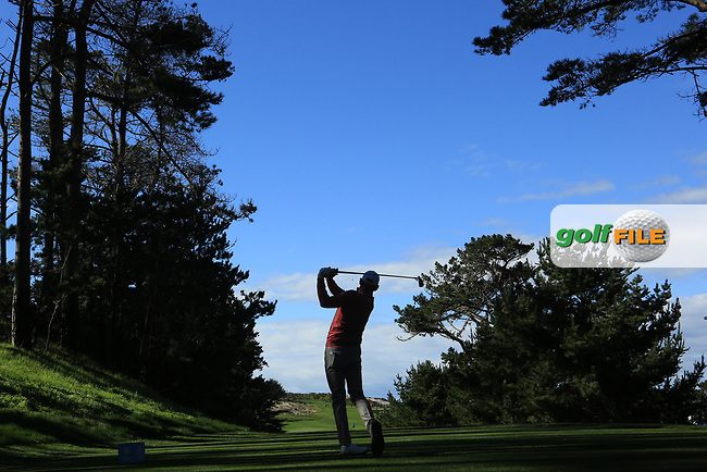 Brandt Snedeker (USA) in action at Spyglass Hill Golf Course during the third round of the AT&amp;T Pro-Am, Pebble Beach Golf Links, Monterey, USA. 09/02/2019<br /> Picture: Golffile | Phil Inglis<br /> <br /> <br /> All photo usage must carry mandatory copyright credit (&copy; Golffile | Phil Inglis)