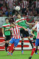 BUKARESZT 09.05.2012.MECZ FINAL LIGA EUROPY SEZON 2011/12: ATLETICO MADRYT - ATHLETIC BILBAO --- UEFA EUROPA LEAGUE FINAL 2012 IN BUCHAREST: CLUB ATLETICO DE MADRID - ATHLETIC CLUB DE BILBAO.DIEGO  ANDER ITURRASPE.FOT. PIOTR KUCZA.---.Newspix.pl