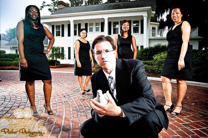 Rosie Moore and the 27 Miracles Wedding Consulting team on Wednesday, May 19, 2010, at the Estate House in Cypress Grove in Orlando, Florida. (Chad Pilster, Pilster Photography, http://www.PilsterPhotography.net)
