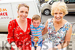 Daniel and Corina McCarthy and Mary Mullins enjoying the Ballyheigue Summer Fest on Sunday.