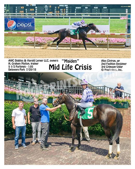 Mid Life Crisis winning at Delaware Park on 7/20/15