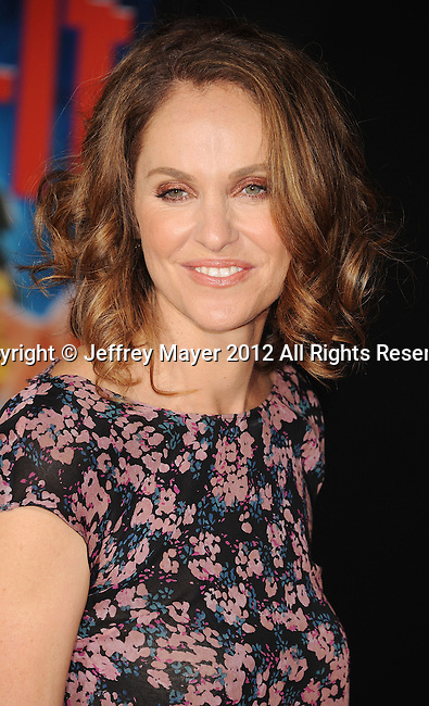 HOLLYWOOD, CA - OCTOBER 29: Amy Brenneman  arrives at the Los Angeles premiere of 'Wreck-It Ralph' at the El Capitan Theatre on October 29, 2012 in Hollywood, California.