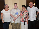 Karl Rooney celebrating his 21st birthday in the Westcourt hotel with grandparents Vera Rooney and Joe and Christine mallon. Photo:Colin Bell/pressphotos.ie