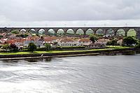 Robert Stevenson's Royal Border Bridge as seen from the New Bridge, Berwick-upon-Tweed