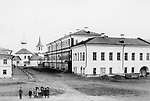 At St. Nicholas Church Podozerskoy and female gymnasia. Yaroslavl. 1900s. / У Николо-Подозерской церкви и женской прогимназии. Ярославль. 1900-е.
