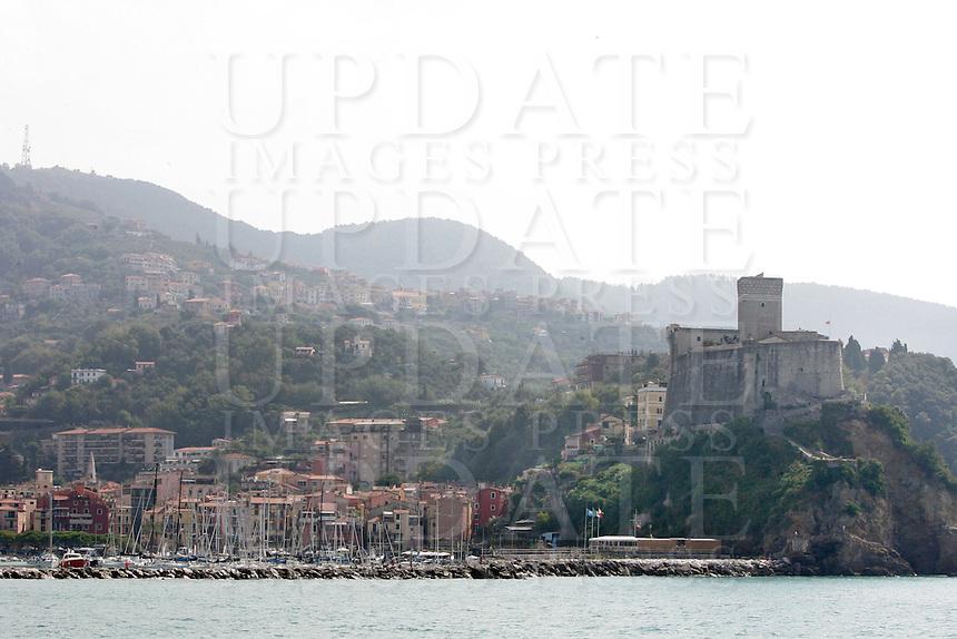 Una veduta di Lerici, col Castello sulla destra.<br /> A view of Lerici, with the Castle at right.<br /> UPDATE IMAGES PRESS/Riccardo De Luca