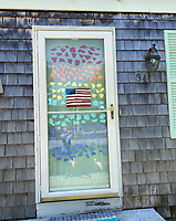 """""""Rainbows Everywhere"""" doorway drawing by Stella Holden, Grade 4, Yarmouth, ME, USA"""