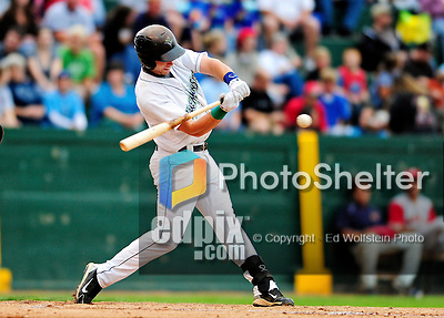 21 August 2010: Vermont Lake Monsters' infielder Ronnie LaBrie in action against the Brooklyn Cyclones at Centennial Field in Burlington, Vermont. The Cyclones defeated the Lake Monsters 8-7 in a 12-inning game that had to be resumed in Brooklyn on August 31 due to late inning rain. Mandatory Credit: Ed Wolfstein Photo