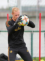 20190903 – TUBIZE , BELGIUM : Belgian Arnaud Bodart is pictured during a training session of the U21 youth team of the Belgian national soccer team Red Devils , a training session as a preparation for their first game against Wales in the qualification for the European Championship round in group 9 on the road for Hungary and Slovenia in 2021, Tuesday 3rd of September 2019 at the National training grounds in Tubize , Belgium. PHOTO SPORTPIX.BE | Sevil Oktem