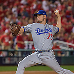 7 October 2016: Los Angeles Dodgers pitcher Grant Dayton on the mound during Game 1 of the NLDS against the Washington Nationals at Nationals Park in Washington, DC. The Dodgers edged out the Nationals 4-3 to take the opening game of their best-of-five series. Mandatory Credit: Ed Wolfstein Photo *** RAW (NEF) Image File Available ***