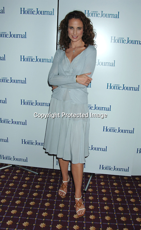 Andie MacDowell..at The Ladies Home Journal Luncheon Honoring winners of The First-Annual Health Breakthrough Awards whose groundbreaking Work has benefitted American Women and Families on August 2, 2006 at The Roosevelt Hotel. ..Robin Platzer, Twin Images