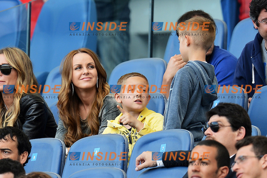 wife and childrens of Miroslav Klose .Roma 05/05/2013 Stadio Olimpico.Football Calcio 2012/2013 Serie A.Lazio Vs Bologna 6-0.Foto Andrea Staccioli Insidefoto