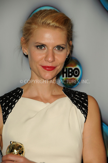 WWW.ACEPIXS.COM . . . . .  ....January 15 2012, LA....Actress Claire Danes arriving at HBO's 69th Annual Golden Globe after party at Circa 55 Restaurant on January 15, 2012 in Los Angeles, California.....Please byline: PETER WEST - ACE PICTURES.... *** ***..Ace Pictures, Inc:  ..Philip Vaughan (212) 243-8787 or (646) 679 0430..e-mail: info@acepixs.com..web: http://www.acepixs.com