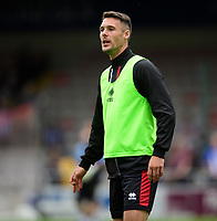 Lincoln City's Jason Shackell during the pre-match warm-up<br /> <br /> Photographer Chris Vaughan/CameraSport<br /> <br /> Football Pre-Season Friendly - Lincoln City v Sheffield Wednesday - Saturday July 13th 2019 - Sincil Bank - Lincoln<br /> <br /> World Copyright © 2019 CameraSport. All rights reserved. 43 Linden Ave. Countesthorpe. Leicester. England. LE8 5PG - Tel: +44 (0) 116 277 4147 - admin@camerasport.com - www.camerasport.com