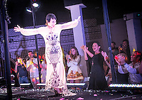 Designer MariaPia Malerba takes a bow at Arts Naples World Festival, Metamorphosis - Theatrical Fashion Event with Avant-Garde Haute Couture, Naples Botanical Garden, May 3, 2014 ... photo/debi pittman wilkey